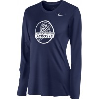 Clark County Youth Lacrosse 15: Nike Women's Legend Long-Sleeve Training Top - Navy Blue
