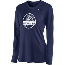 Clark County Youth Lacrosse 15: Nike Women's Legend Long-Sleeve Training Top - Navy Blue